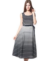 Meira Printed Crepe Women's Dress - Black _ MEWT-1193-C-Black