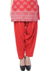 Meira Cotton Patiala Solid Salwar - Red _MEPAT-1159-E