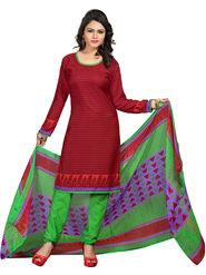 Khushali Fashion Crepe  Printed Unstitched Dress Material -PFCS509