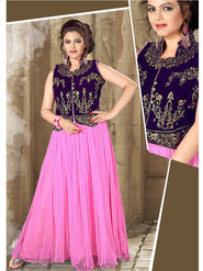 Viva N Diva Net Floral Embroidery Gowns -Purvi-3013