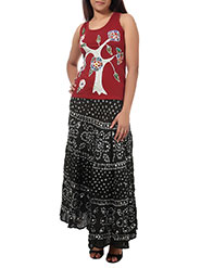 Rajrang Cotton Long Skirt - Black