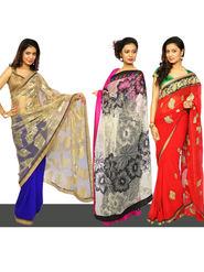 Rihana 3 Embroidered Partywear Sarees by Amaya (3DS2)
