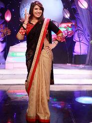 Royal Cream & Black Designer Saree from Aaha Enna Porutham (4312)