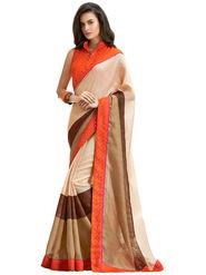Nanda Silk Mills Linen Printed Saree Sap-1008