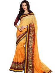 Nanda Silk Mills Linen Printed Saree Sap-1110