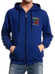 Good Karma Cotton Blend Full Sleeves Casual Sweatshirt For Men - Blue