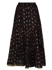Amore Printed Cotton Skirt -Skv013Bk