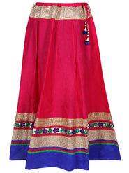 Amore Plain Cotton Embellished Skirt -Skv072P