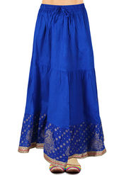 Amore Printed Cotton Skirt -SKV212DB