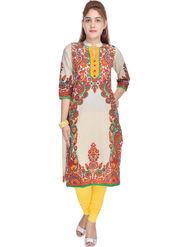 Shop Rajasthan Printed Cotton Straight Kurti -Sre2261