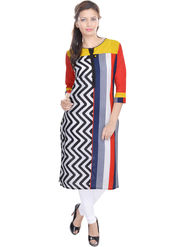 Shop Rajasthan Printed Cotton Long Straight Kurti -Sre2282