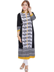 Shop Rajasthan Printed Rayon Straight Kurti -Sre2338