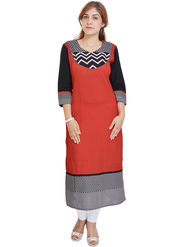 Shop Rajasthan Printed Cotton Long Straight Kurti -Sre2340
