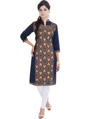 Shop Rajasthan Printed Cotton Straight Kurti -Sre2378