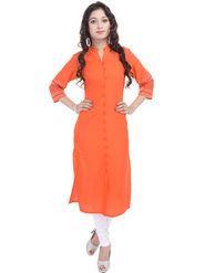 Shop Rajasthan Solid Cotton Long Straight Kurti -Sre2491