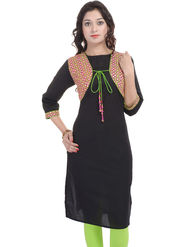 Shop Rajasthan Printed Cotton Straight Kurti -Sre2495