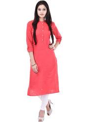 Shop Rajasthan Solid Cotton Straight Kurti -Sre2545