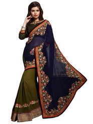 Khushali Fashion Georgette Embroidered & Embellished Saree -Stpnhr10007