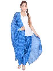 Shop Rajasthan 100% Pure Cotton Striped Patiala Salwar - Blue - SRI2001