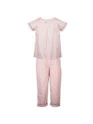 ShopperTree Cotton Printed Girls Night Wear - Light Pink