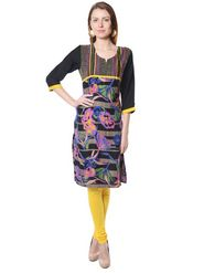 Shree Rayon Printed Kurti - Multicolour - 14369/C