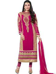 Thankar Embroidered Faux Georgette Semi-Stitched Suit� -Tas331-20015