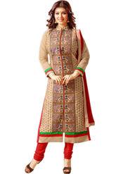 Thankar Embroidered Cotton Semi-Stitched Suit -Tas337-1555