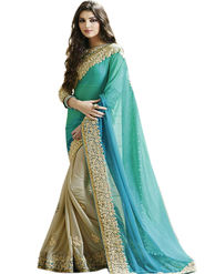 Thankar Embroidered Georgette & Lycra Designer Saree -Tds149-1520
