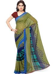 Triveni Printed Art Silk Green Saree -tsb10