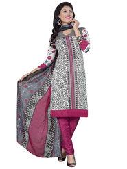 Triveni's Crape Printed Dress Material -TSLCSK9114