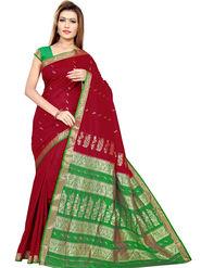 Triveni's Art Silk Zari Worked Saree -TSMRCC3004