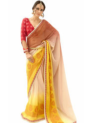 Triveni's  Georgette Border Work Saree -TSN84024