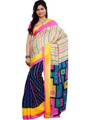 Triveni sarees Art Silk Printed Saree - Violet - TSRIMB558AA
