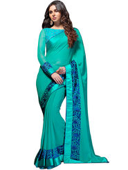 Nanda Silk Mills Georgette Embroiderd Saree -Vf-104