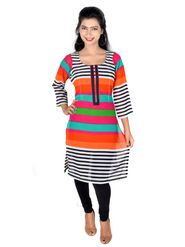 Vivaa Georgette Printed Long Kurti - Multicolour-VLK-11
