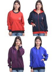 Pack of 4 Eprilla Wool Plain  Sweatshirts  -eprl79