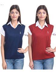 Pack of 2 Eprilla Spun Cotton Plain Sleeveless Sweaters -eprl11