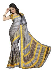 Khushali Fashion Silk Crepe Jacquard Saree(Grey,Multi)_YNCHN20553