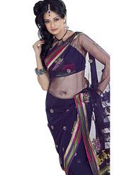 Triveni's Net Embroidered Saree -TS21006
