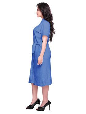 Blue Turkish Cotton Bathrobe_DB-BR-RTM-214