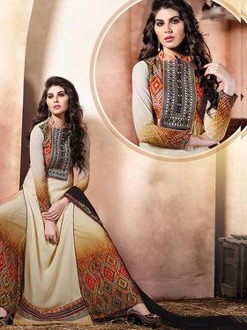 Viva N Diva Embroidered Pure Chanderi Silk Semi Stitched Suit 10021-Elnaaz