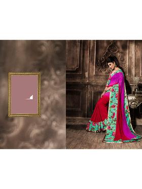 Viva N Diva Georgette  Printed Saree 10121-Tia