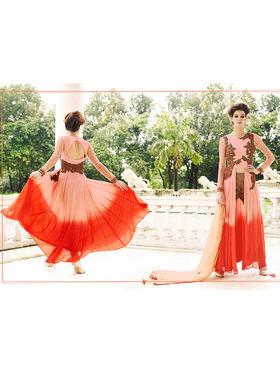 Viva N Diva Embroidered Georgette Semi Stitched Suit 10150-Lavish