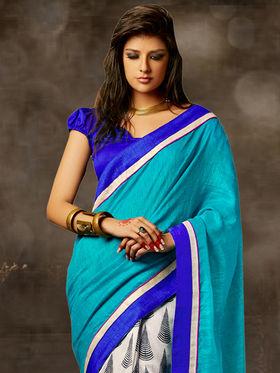 Viva N Diva Printed Bhagalpuri Saree -sa01