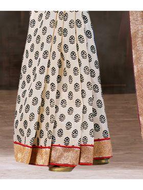 Viva N Diva Printed Bhagalpuri Silk Saree -sa14