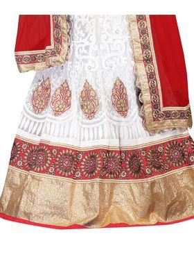 Viva N Diva Embroidered Semi Stitched Net Lehenga -10518-Ami