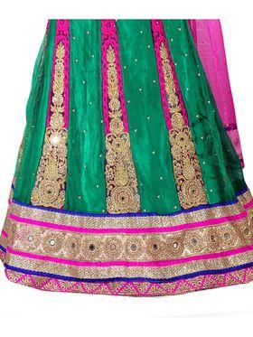 Viva N Diva Embroidered Semi Stitched Net Lehenga -10524-Ami