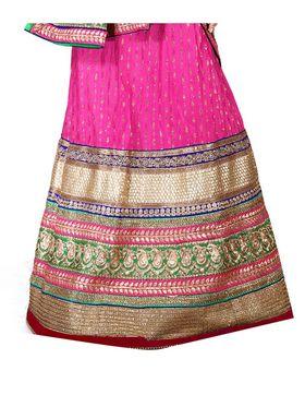 Viva N Diva Embroidered Semi Stitched Net Lehenga -10536-Ami
