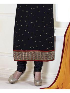 Viva N Diva Embroidered Faux Georgette Semi Stitched Salwar Suit -11112-Kalika