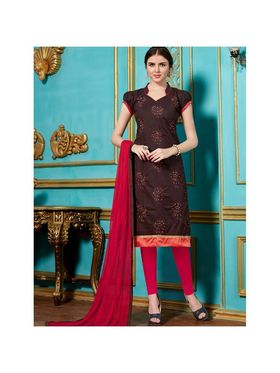 Viva N Diva Emroidered Unstiched Cotton Dress Material_11134-Elifa